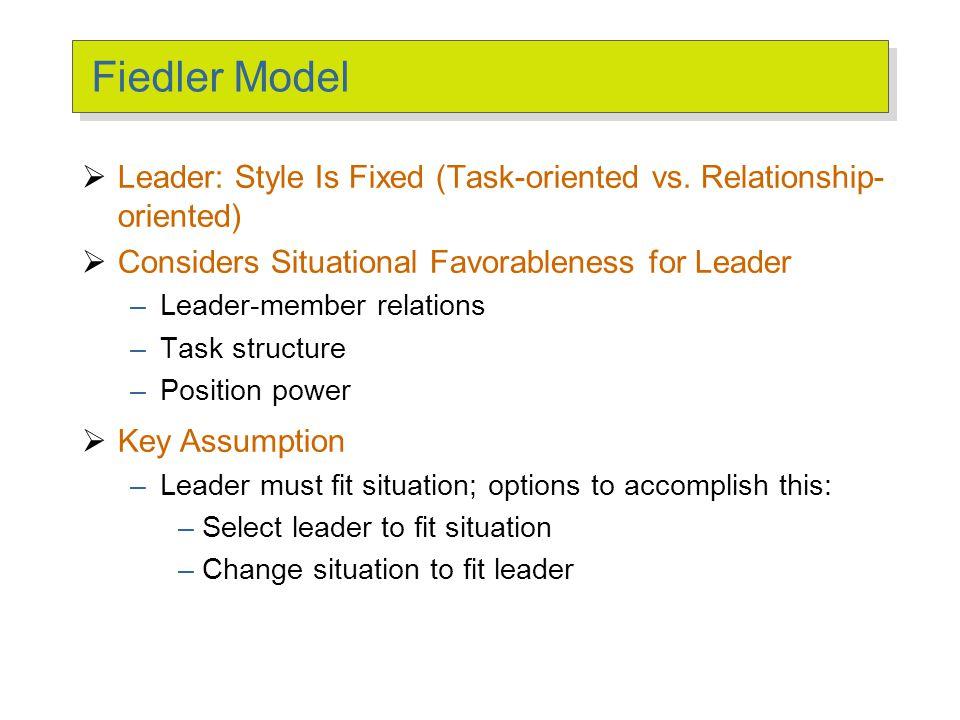 Fiedler Model: The Leader