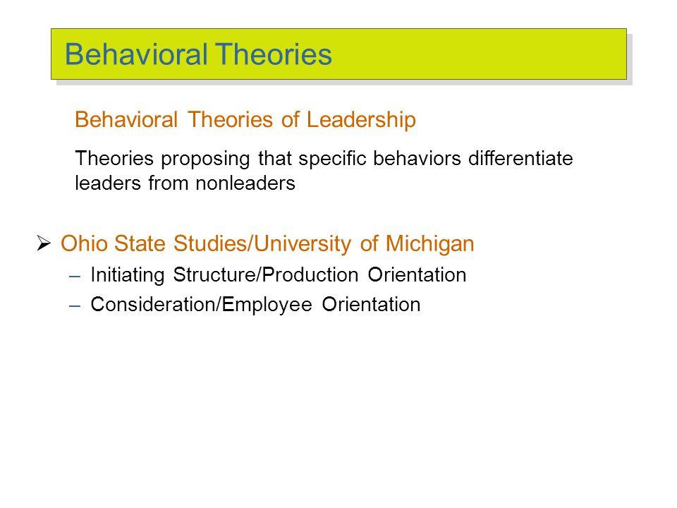 Ohio State Studies Initiating Structure Consideration