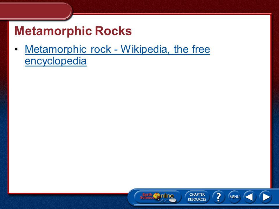 Metamorphic Rocks Metamorphic rock - Wikipedia, the free encyclopedia