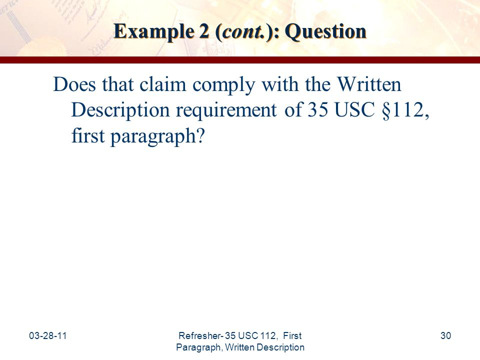 Example 2 (cont.): Question