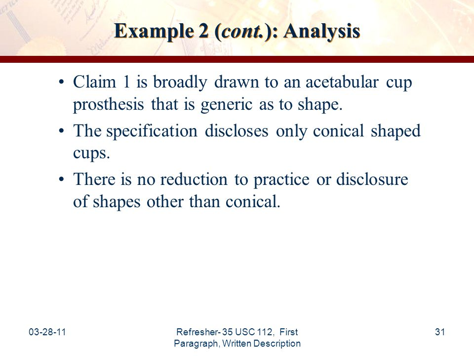 Example 2 (cont.): Analysis
