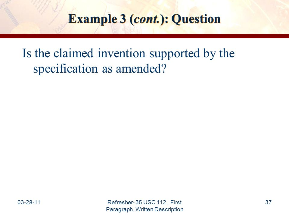 Example 3 (cont.): Question