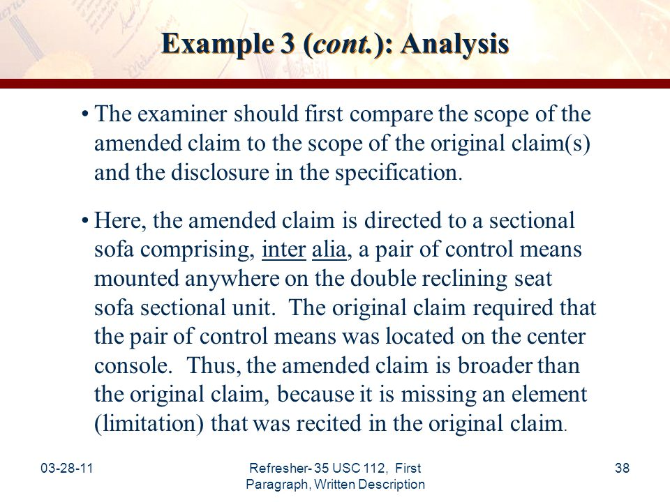 Example 3 (cont.): Analysis