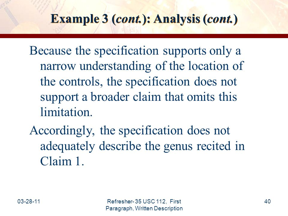 Example 3 (cont.): Analysis (cont.)