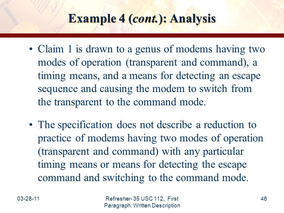 Example 4 (cont.): Analysis