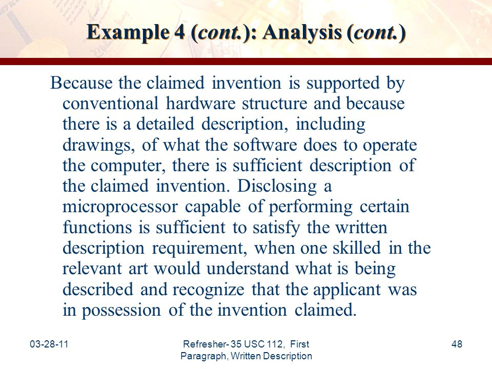 Example 4 (cont.): Analysis (cont.)