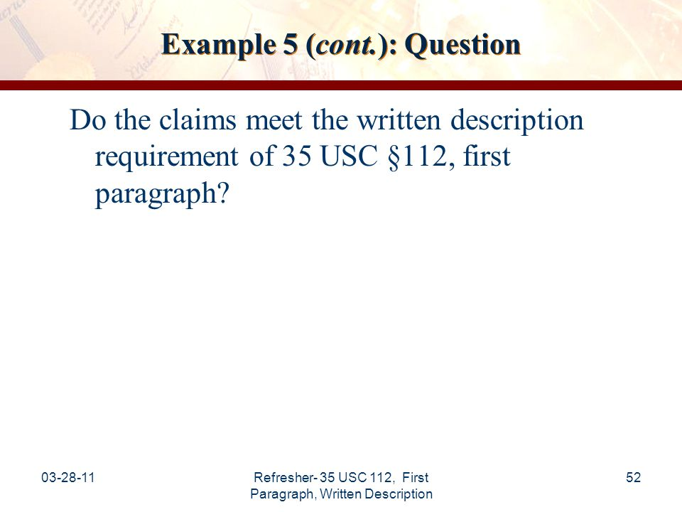 Example 5 (cont.): Question