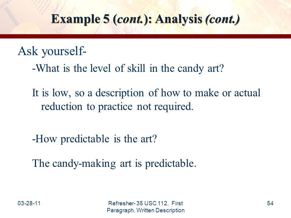 Example 5 (cont.): Analysis (cont.)
