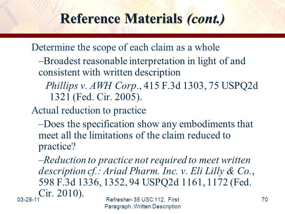 Reference Materials (cont.)