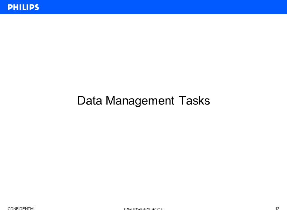 Data Management Tasks