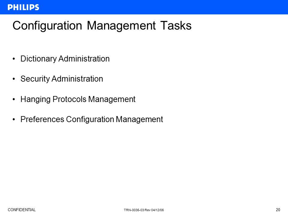 Configuration Management Tasks