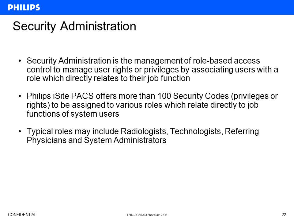 Security Administration