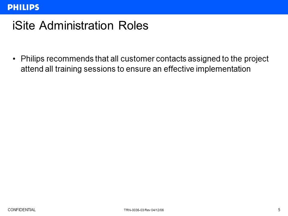 iSite Administration Roles