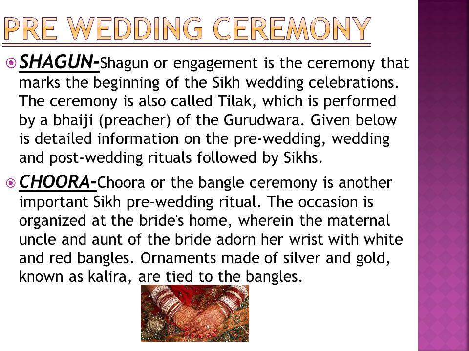 PRE WEDDING CEREMONY