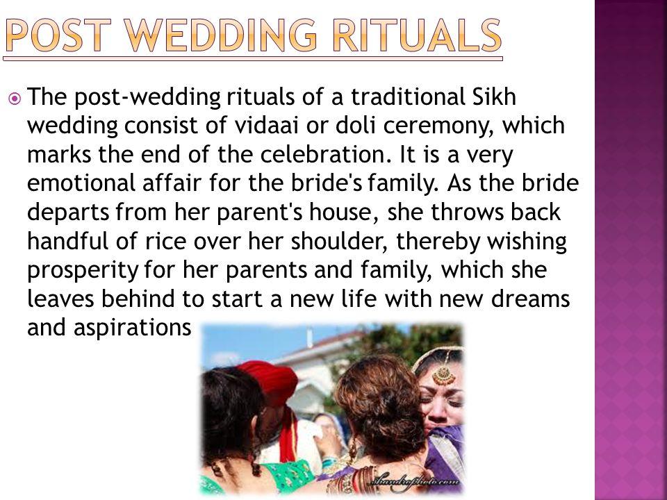 POST WEDDING RITUALS