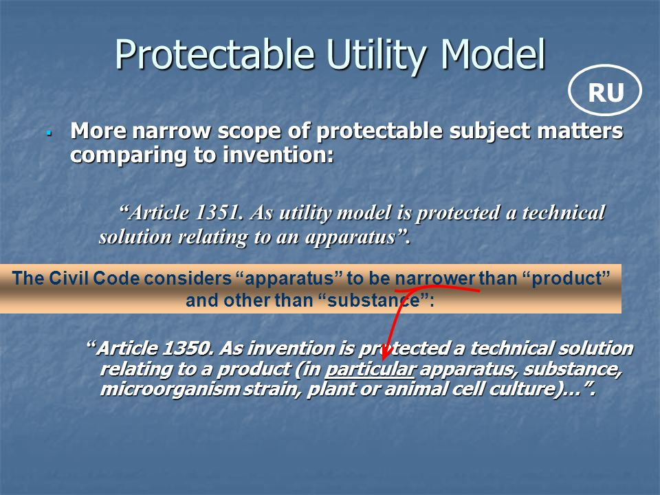 Protectable Utility Model