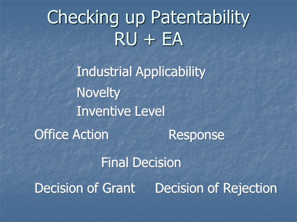 Checking up Patentability RU + EA