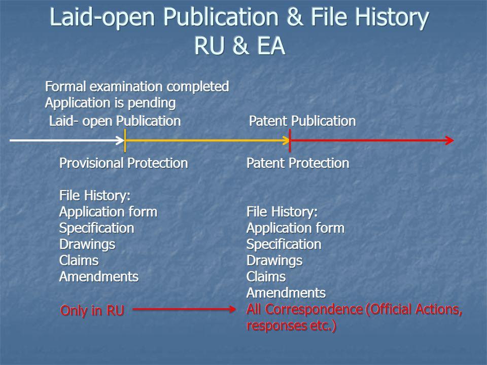 Laid-open Publication & File History