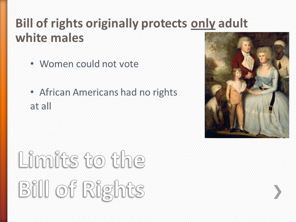 Limits to the Bill of Rights
