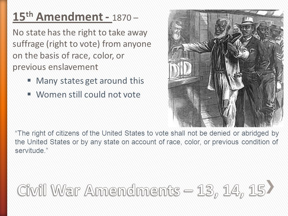 Education from LVA: The Fifteenth Amendment