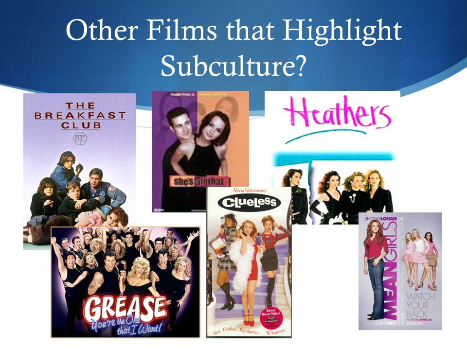 Other Films that Highlight Subculture
