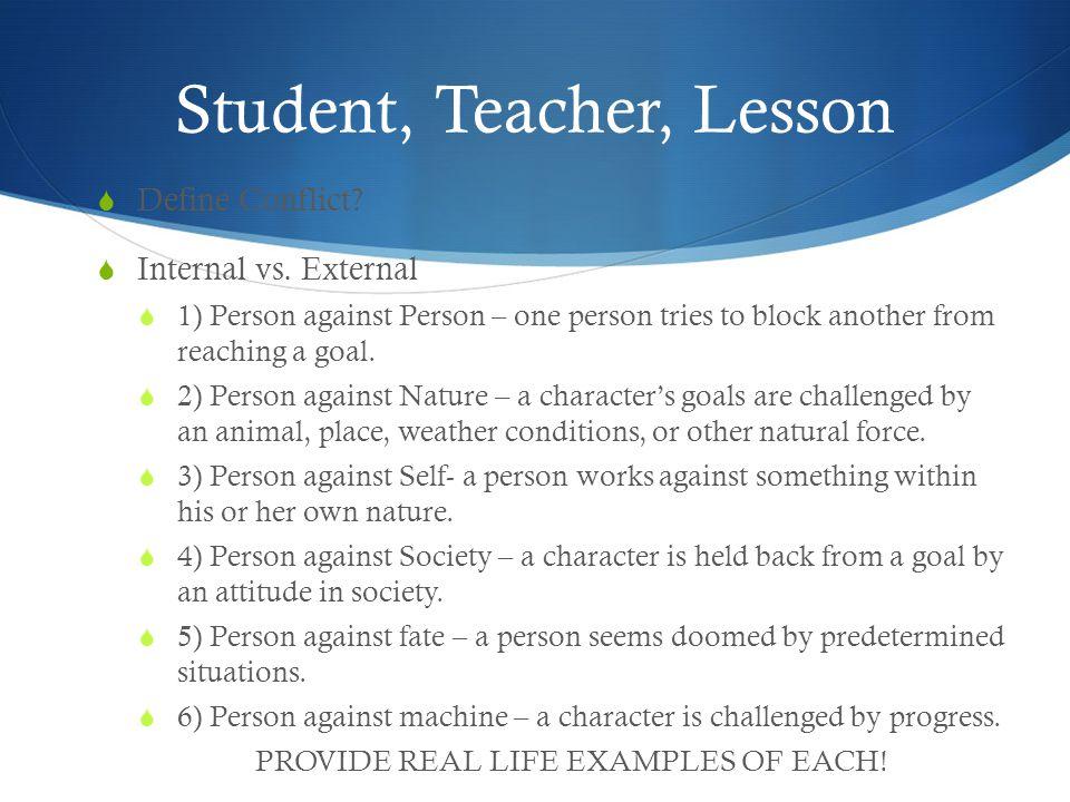 Student, Teacher, Lesson