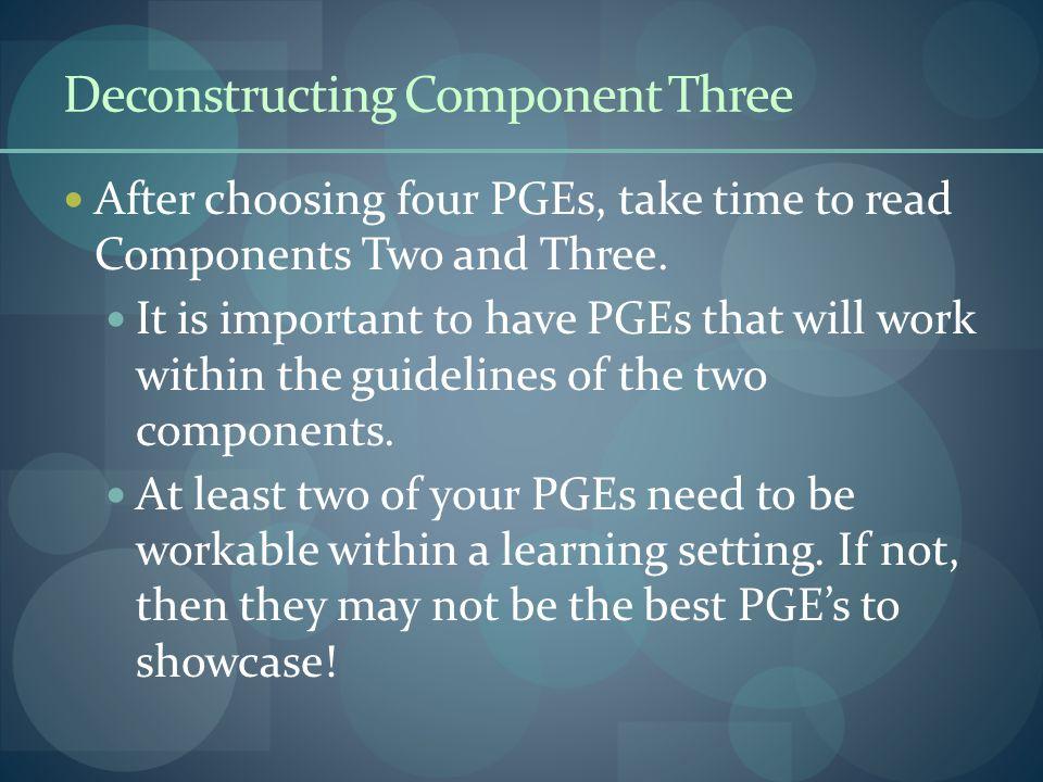 Deconstructing Component Three
