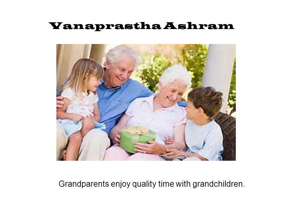 Grandparents enjoy quality time with grandchildren.