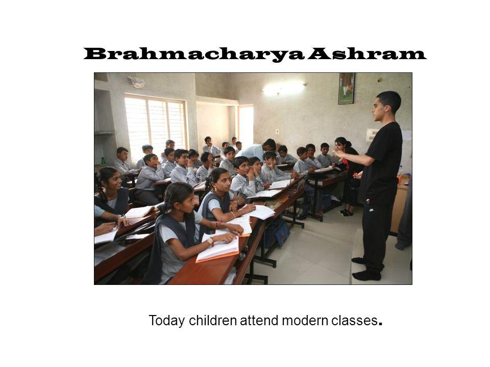Today children attend modern classes.