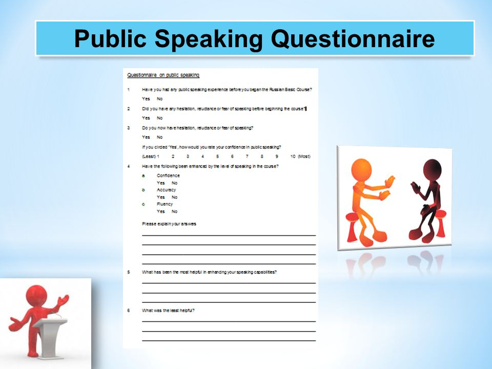 Public Speaking Questionnaire