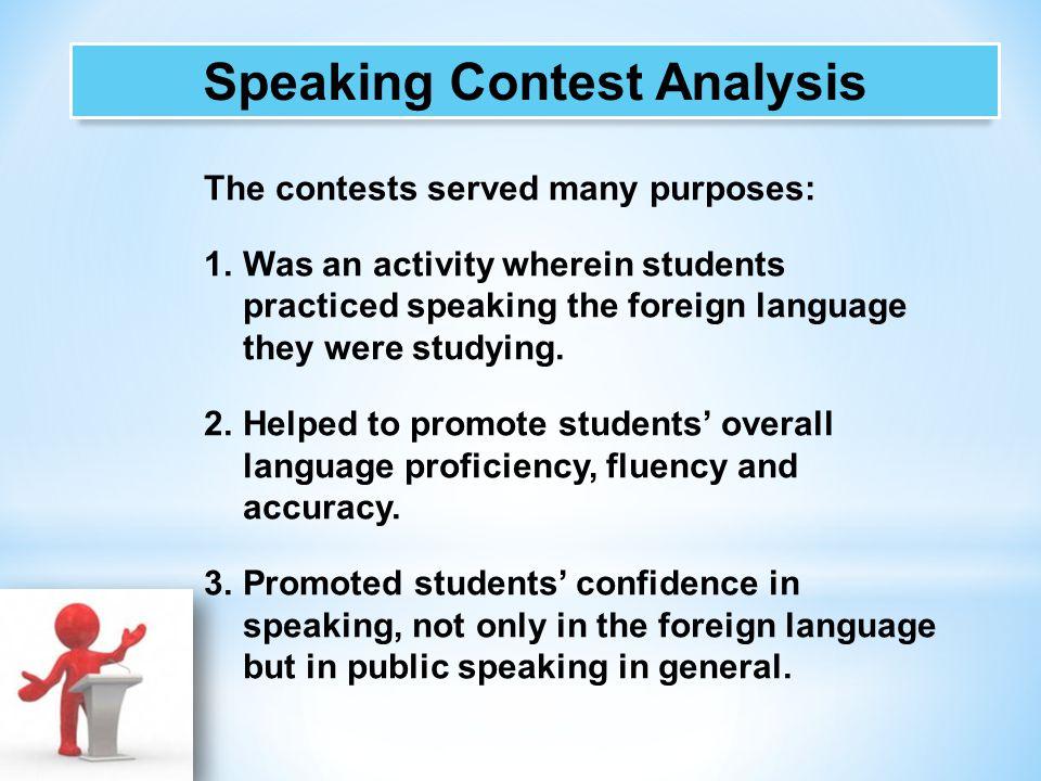 Speaking Contest Analysis