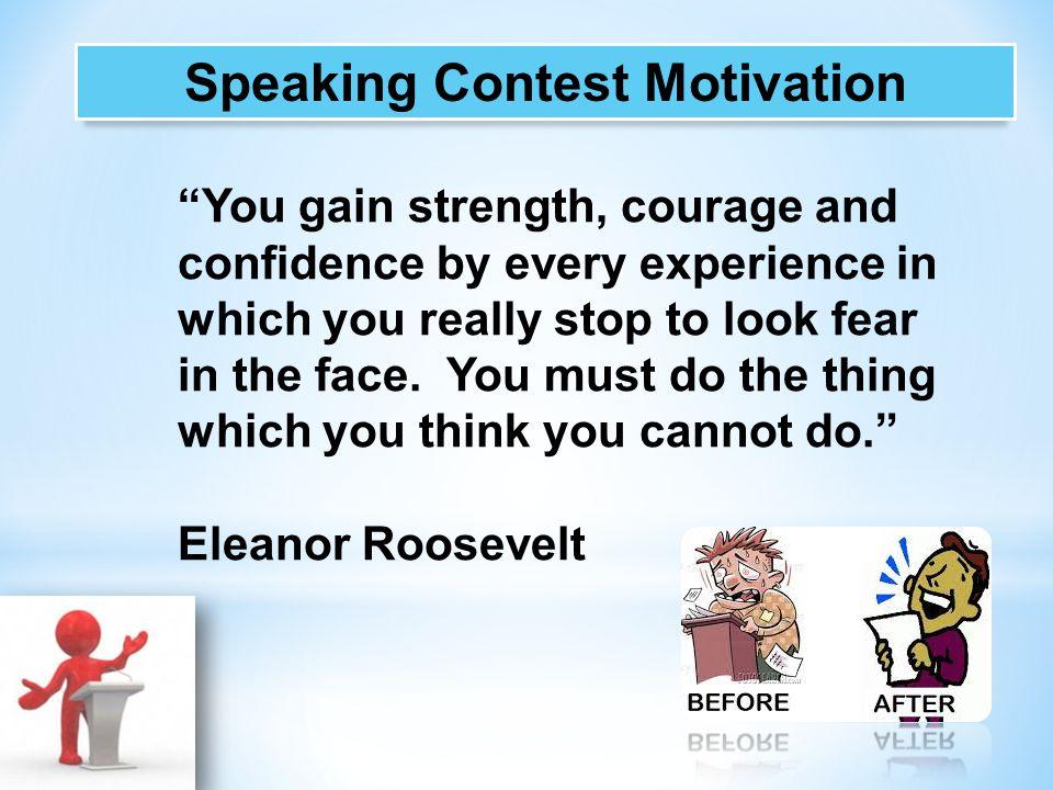 Speaking Contest Motivation