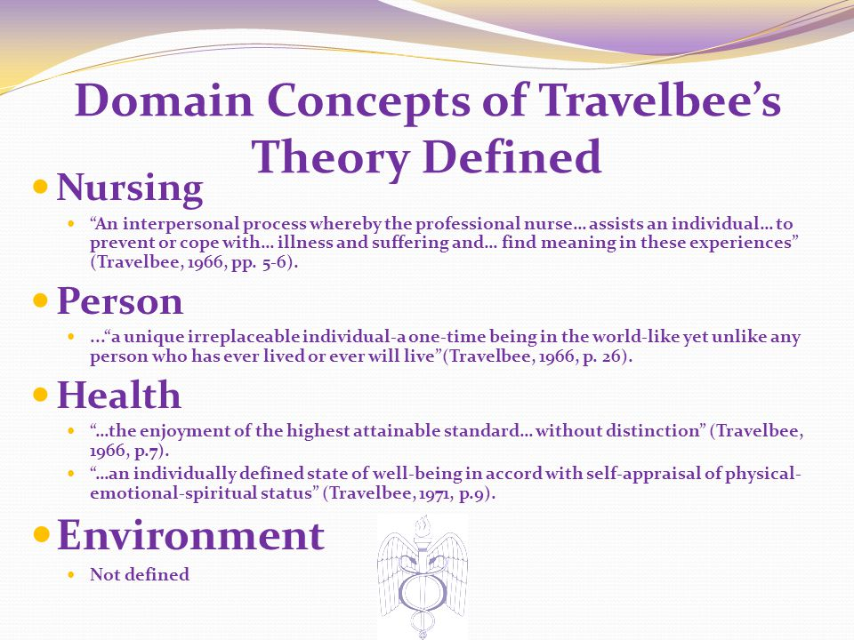 Domain Concepts of Travelbee's Theory Defined