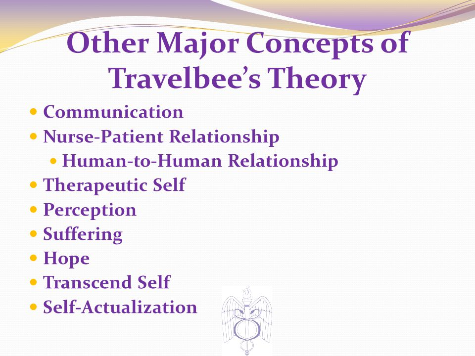 Other Major Concepts of Travelbee's Theory