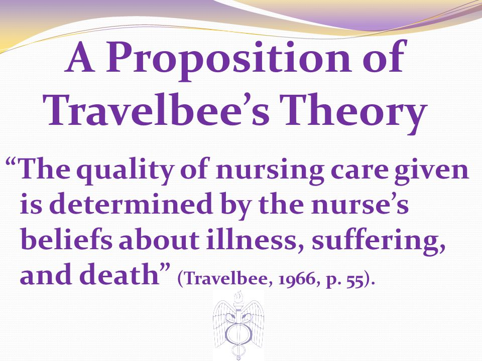 A Proposition of Travelbee's Theory