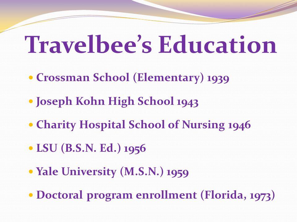 Travelbee's Education
