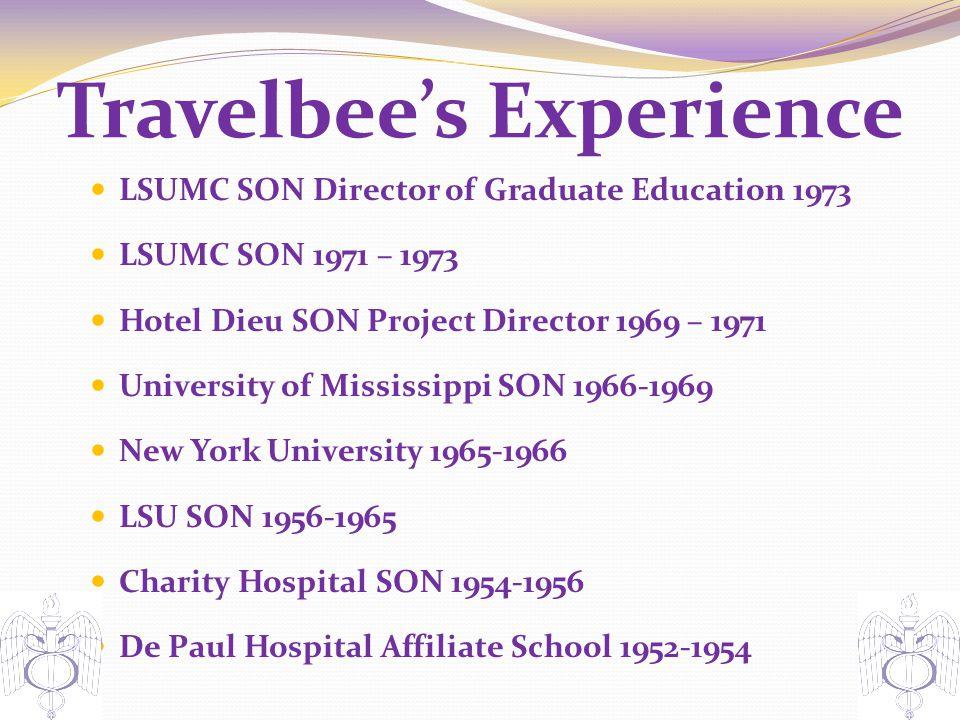 Travelbee's Experience