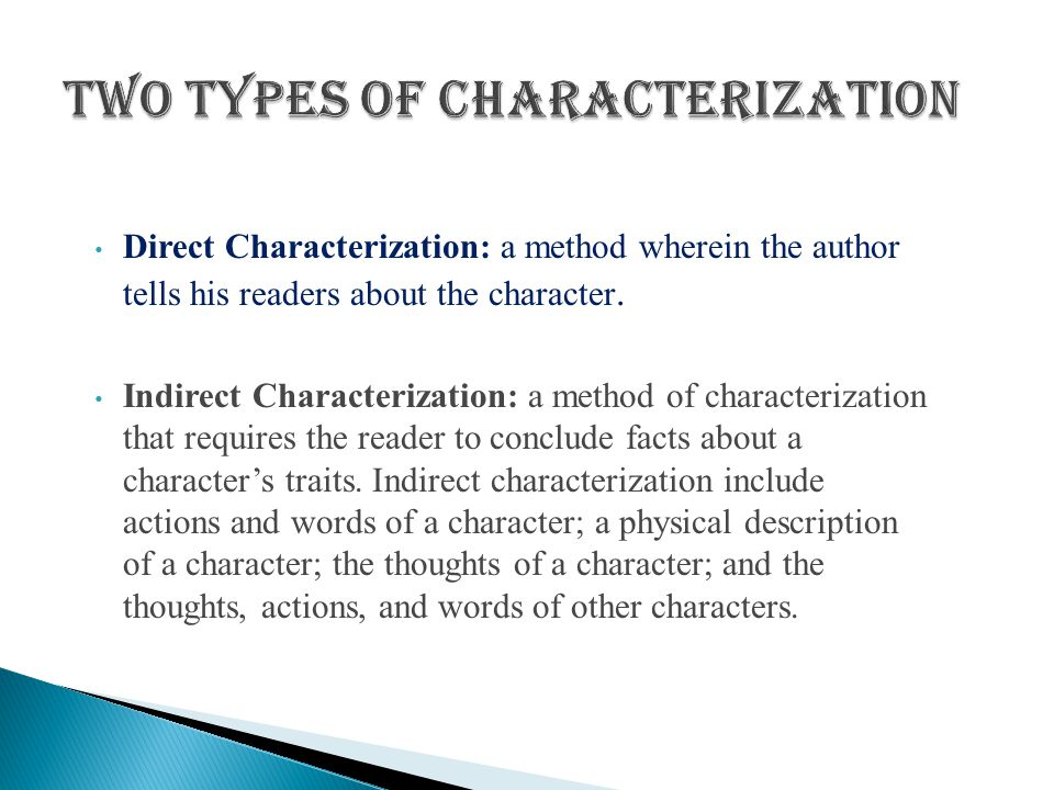 Two Types of Characterization