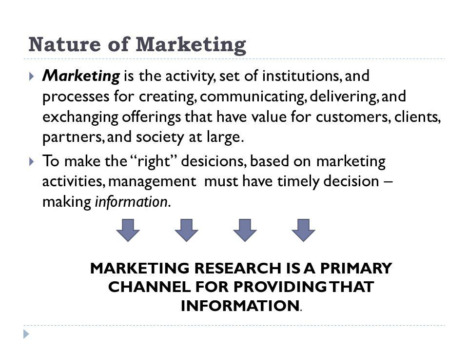 Nature of Marketing