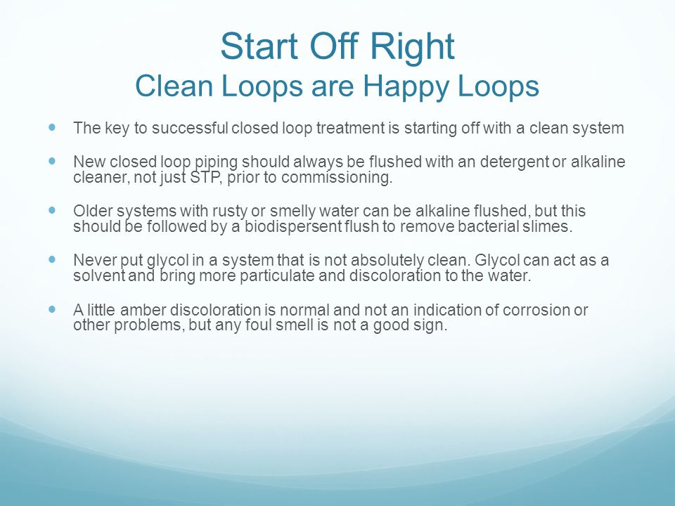 Start Off Right Clean Loops are Happy Loops