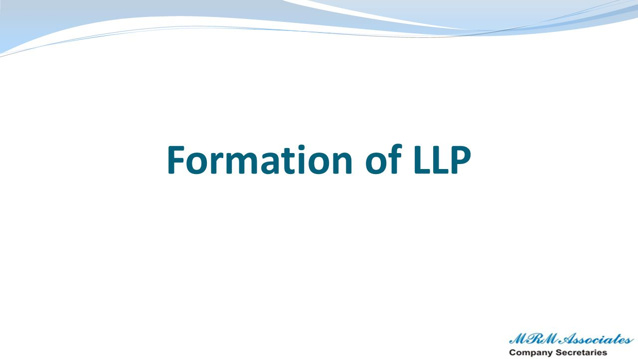 Formation of LLP