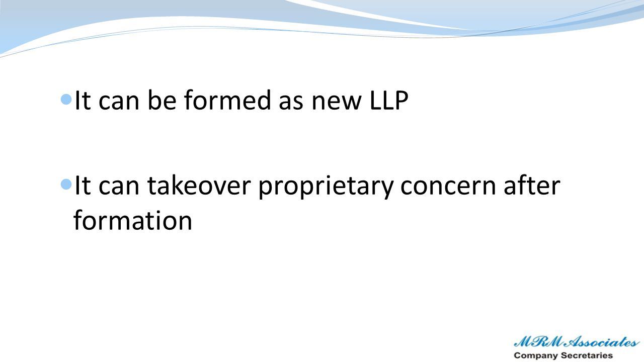 It can be formed as new LLP