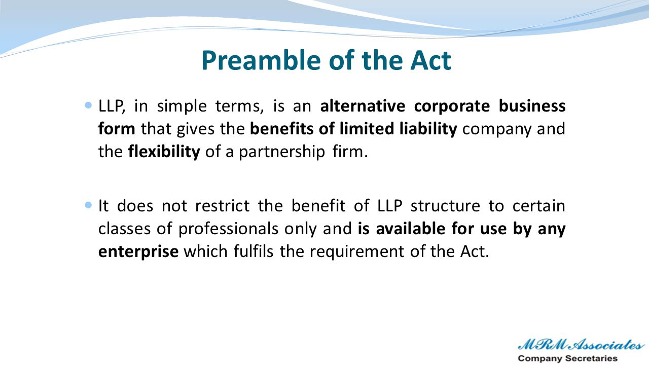 Preamble of the Act
