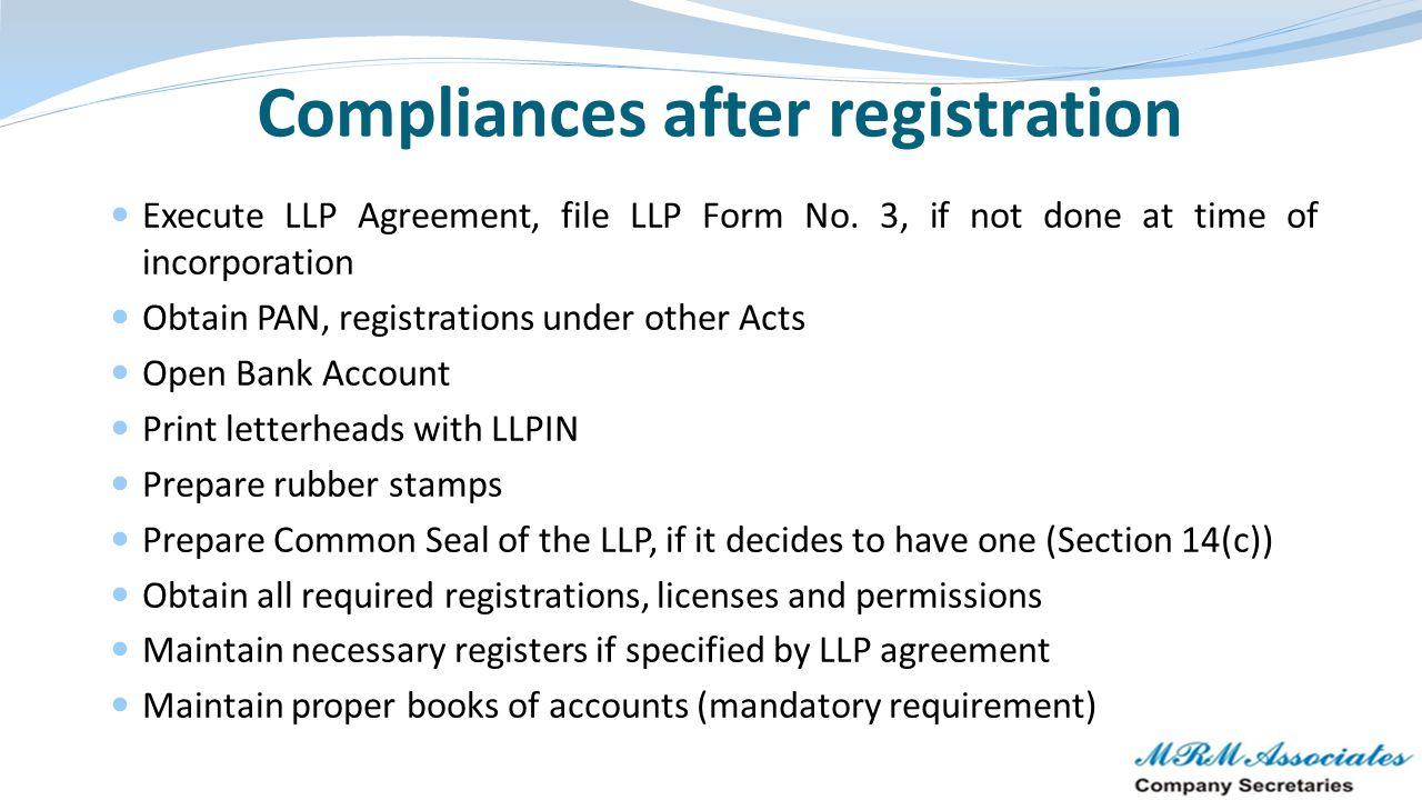 Compliances after registration