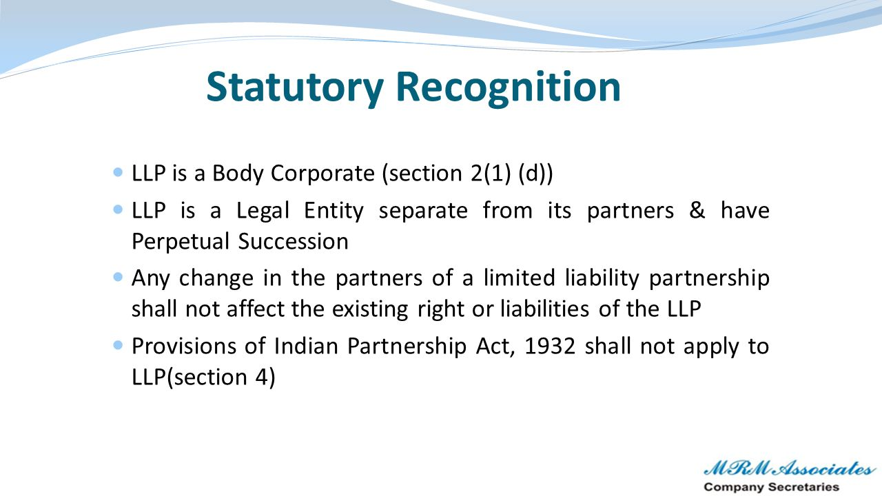Statutory Recognition