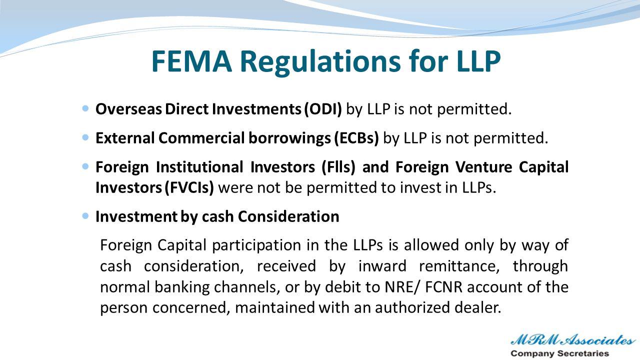 FEMA Regulations for LLP