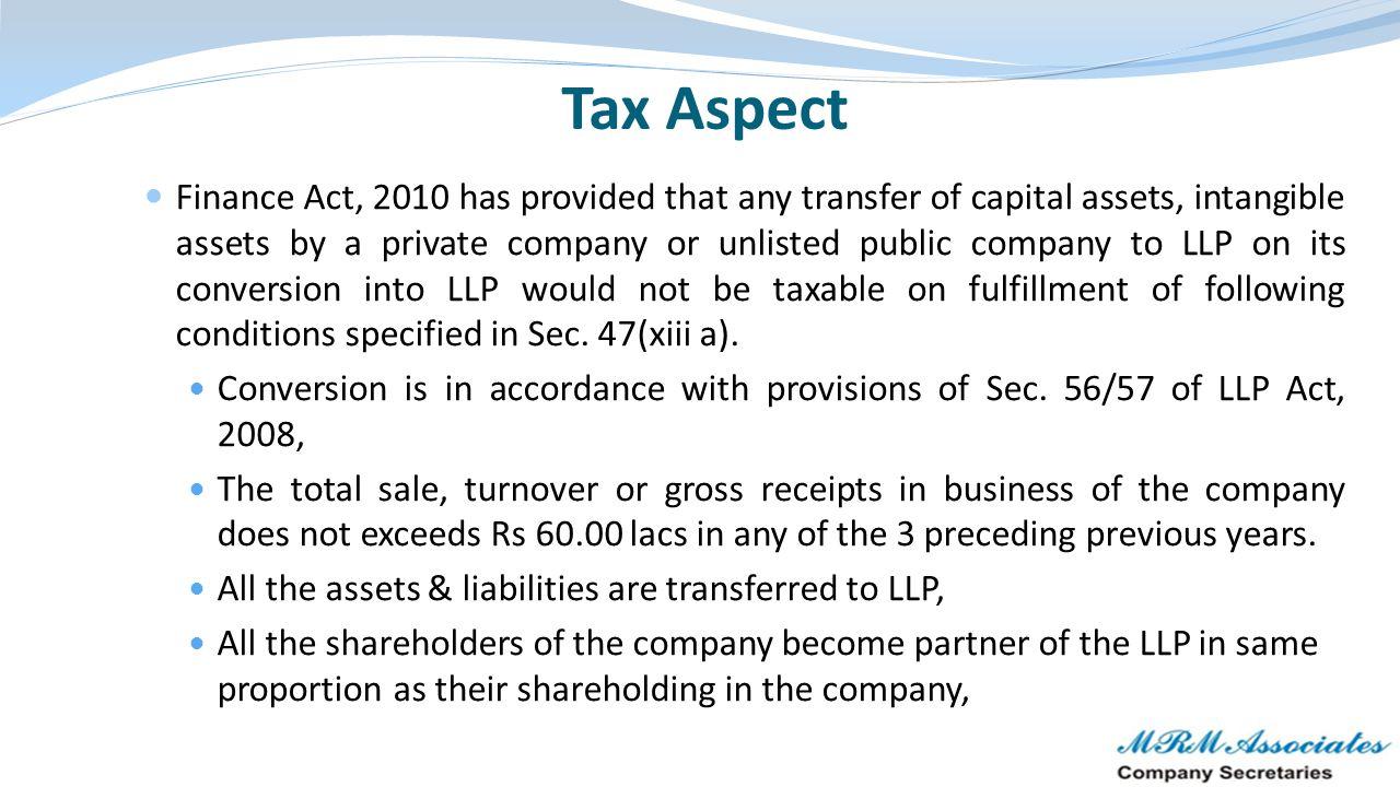 Tax Aspect