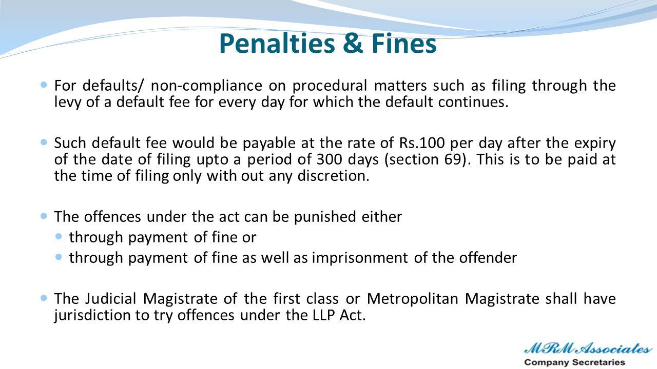 Penalties & Fines