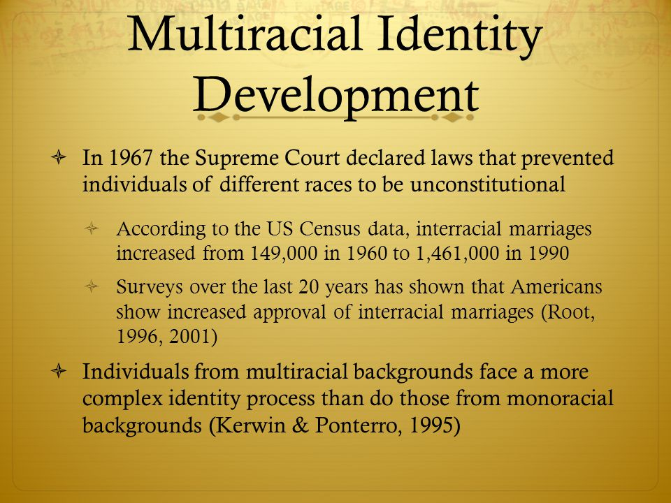 Multiracial Identity Development
