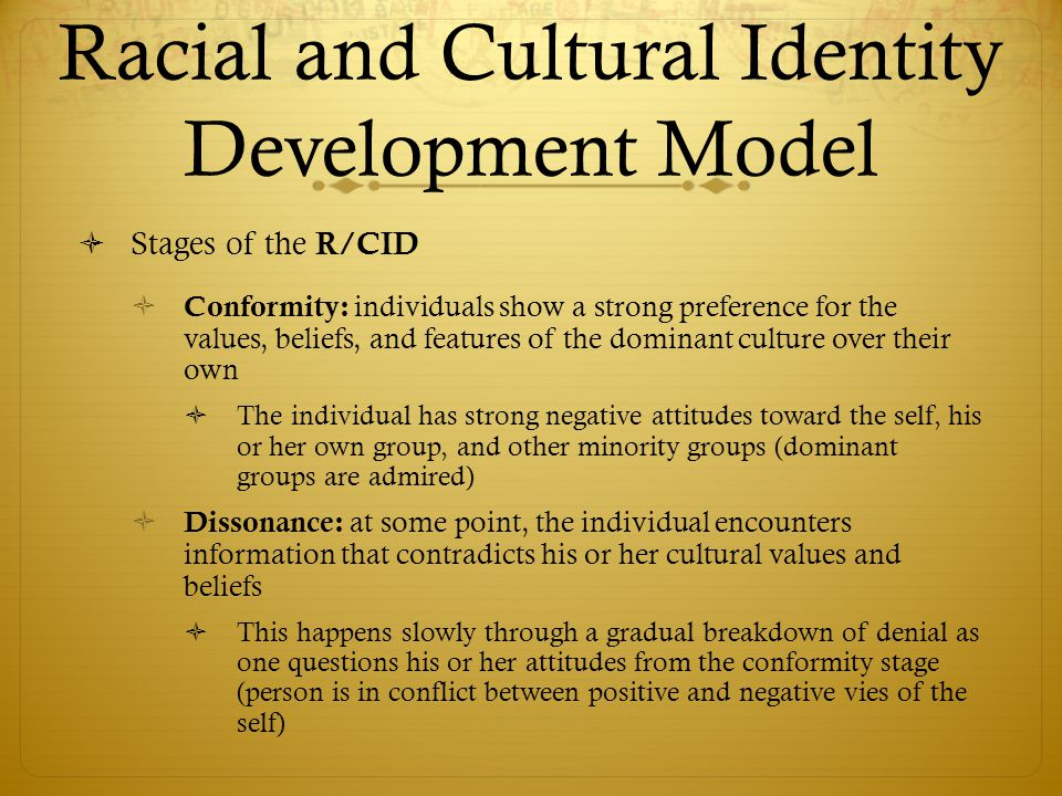 Racial and Cultural Identity Development Model